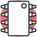 computer chip, electronic circuit, ic, integrated circuit, silicon chip icon