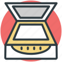 computer scanner, electronics, image scanner, scanner, scanner machine, scanning device icon