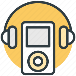 enjoying music, entertainment, headphones, ipod, music listening icon