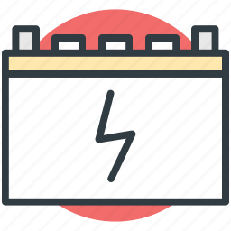 battery, car battery, charging, charging indicator, power supply icon