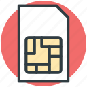 chip, integrated chip, phone sim, sim, sim card icon