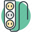 electricity, extension cable, extension lead, power extension, power supply icon