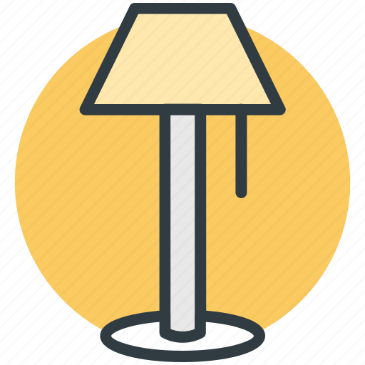 bedside lamp, electric lamp, lamp, lamp light, table lamp icon