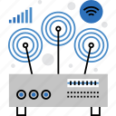 connection, device, internet, router, signal, wifi, wireless icon