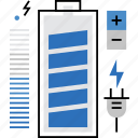 bank, battery, charge, charging, energy, level, power icon