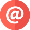 at, communication, email, letter, mail, send icon icon