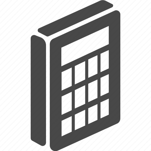 calculator, device, electronics, technology icon