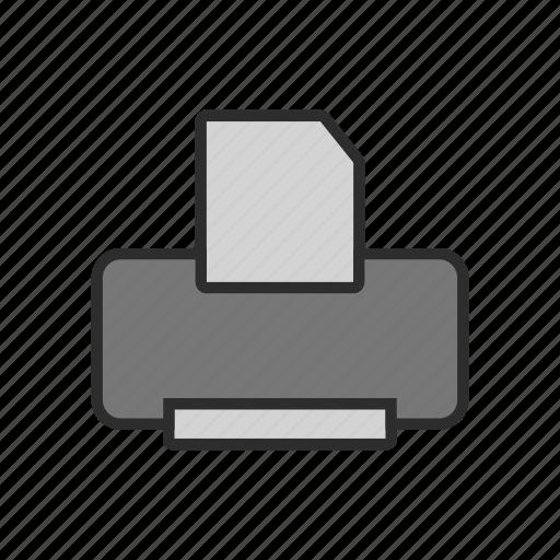 device, fax, machine, office, print, printer, scanner icon