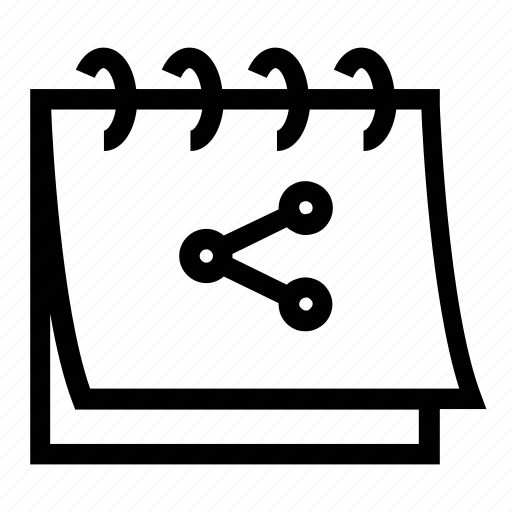 calendar, share, share calendar icon