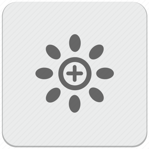 add, bright, color, design, material, temperature icon