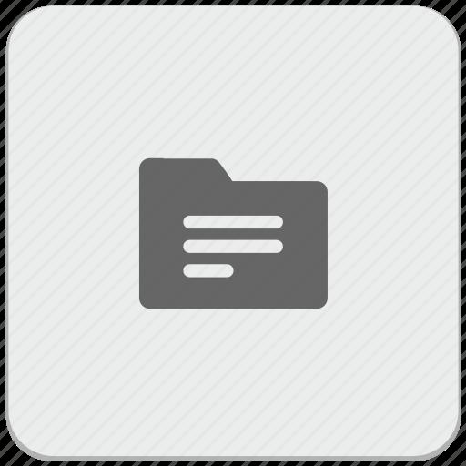 action, catalog, design, folder, material, name icon