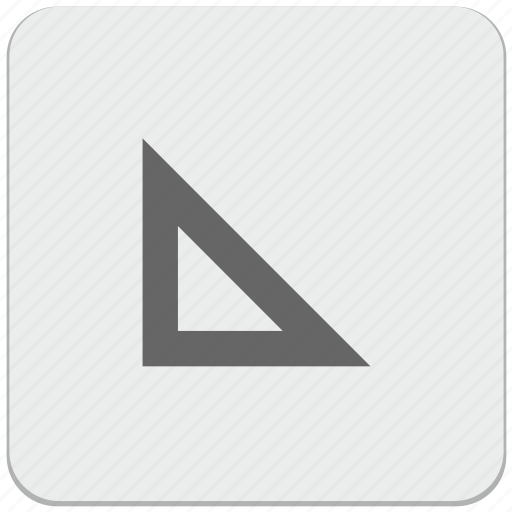 angle, design, geometry, instrument, material, ruller icon