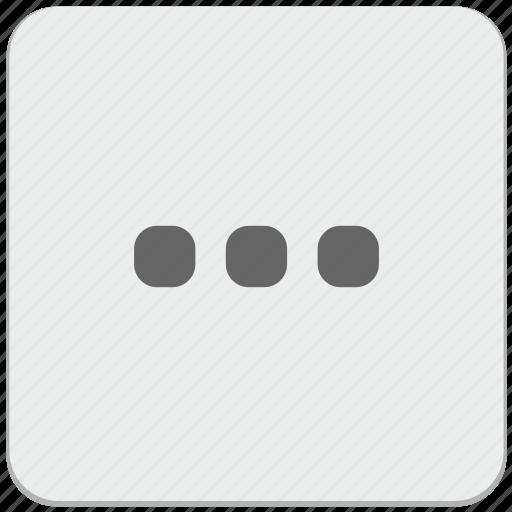 additional, design, horizontal, material, menu, navigation icon