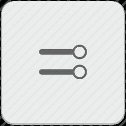 design, level, material, maximum, settings, volume icon