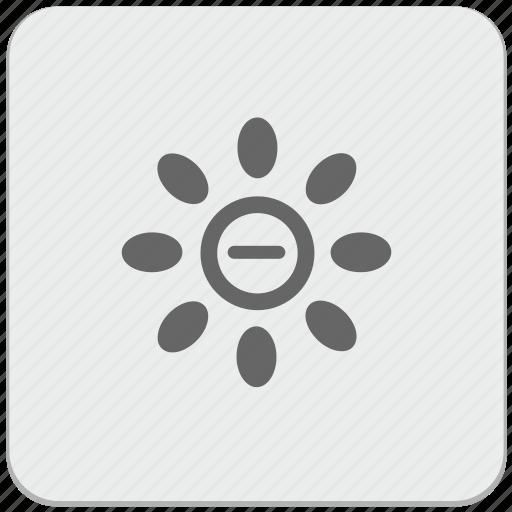 bright, design, level, material, minus, temperature icon