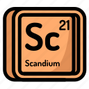 element, mendeleev, atomic, atom, scandium, chemistry