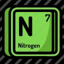 atom, atomic, chemistry, element, mendeleev, nitrogen icon