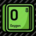 atom, atomic, chemistry, element, mendeleev, oxygen icon
