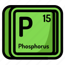 atom, atomic, chemistry, element, mendeleev, phosphorus icon