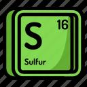 atom, atomic, chemistry, element, mendeleev, sulfur