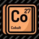 atom, atomic, chemistry, cobalt, element, mendeleev icon