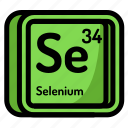 atom, atomic, chemistry, element, mendeleev, selenium icon