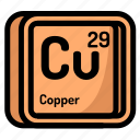 copper, element, atomic, atom, mendeleev, chemistry