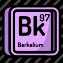 atom, atomic, berkelium, chemistry, element, mendeleev icon