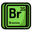 atom, atomic, bromine, chemistry, element, mendeleev icon