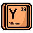 atom, atomic, chemistry, element, mendeleev, yttrium icon