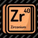 zirconium, element, atomic, atom, mendeleev, chemistry