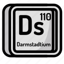 atom, atomic, chemistry, darmstadium, element, mendeleev icon