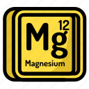 atom, atomic, chemistry, element, magnesium, mendeleev icon