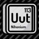 element, atomic, atom, mendeleev, chemistry, nihonium
