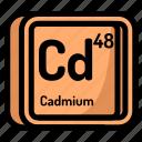 atom, atomic, cadmium, chemistry, element, mendeleev icon