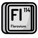 atom, atomic, chemistry, element, flerovium, mendeleev icon