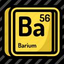 atom, atomic, barium, chemistry, element, mendeleev icon