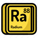 atom, atomic, chemistry, element, mendeleev, radium icon