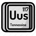 element, atomic, atom, mendeleev, chemistry, tennesine