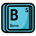 atom, atomic, boron, chemistry, element, mendeleev icon