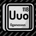 atom, atomic, chemistry, element, mendeleev, oganesson icon