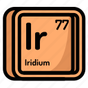atom, atomic, chemistry, element, iridium, mendeleev icon