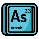 arsenic, atom, atomic, chemistry, element, mendeleev icon
