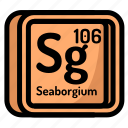 seaborgium, element, atomic, atom, mendeleev, chemistry