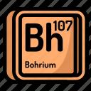 atom, atomic, bohrium, chemistry, element, mendeleev icon