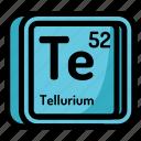 atom, atomic, chemistry, element, mendeleev, tellurium icon