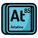 astatine, atom, atomic, chemistry, element, mendeleev icon