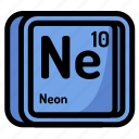 atom, atomic, chemistry, element, mendeleev, neon icon