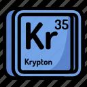 atom, atomic, chemistry, element, krypton, mendeleev icon