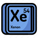 atom, atomic, chemistry, element, mendeleev, xenon icon